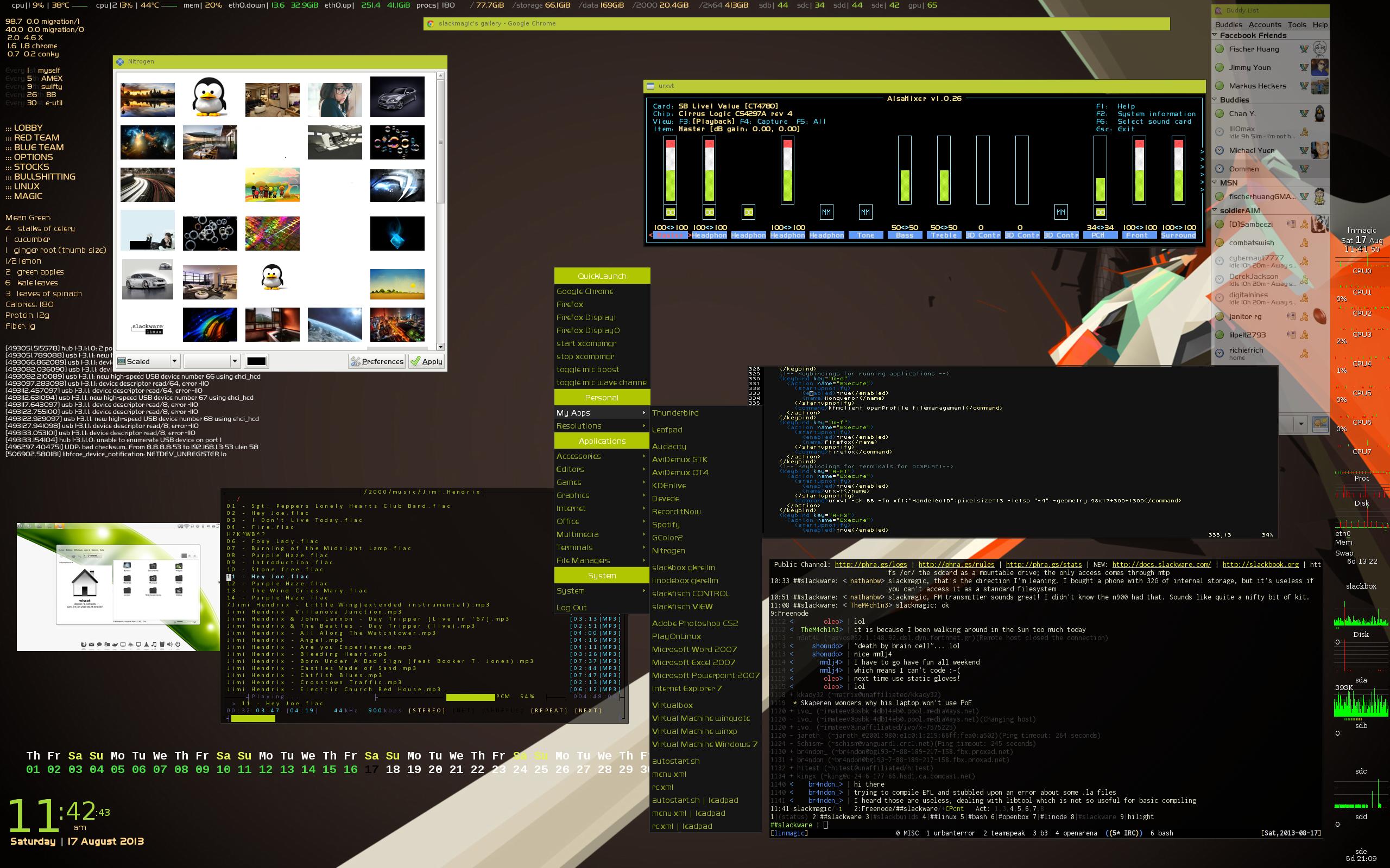 Tampilan desktop Openbox
